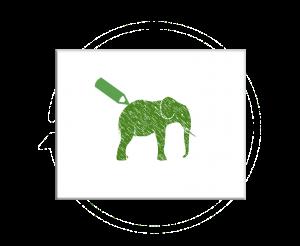 schets olifant + potlood