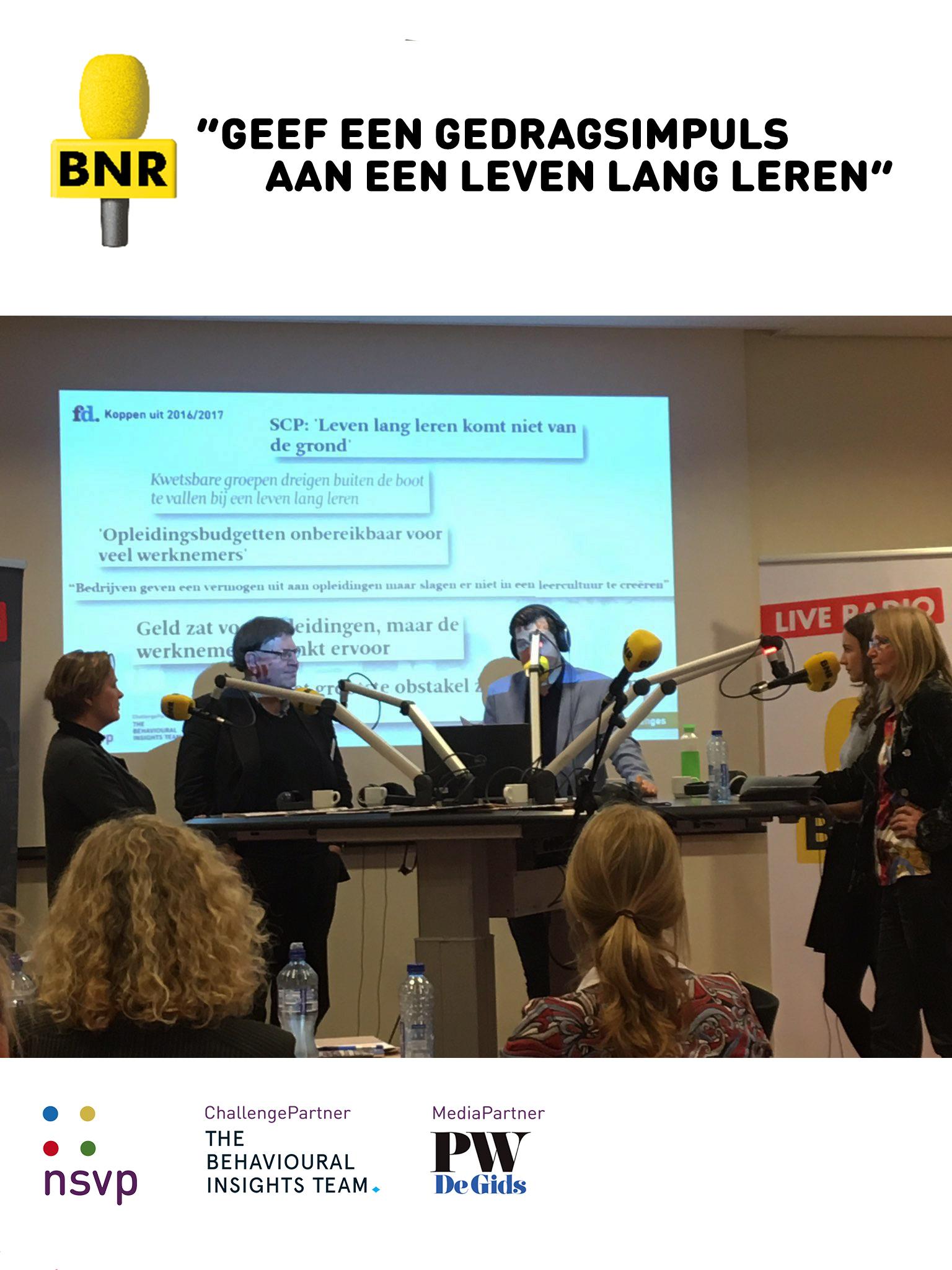 BNR Nieuwsradio verzorgt uitzending over Nudging
