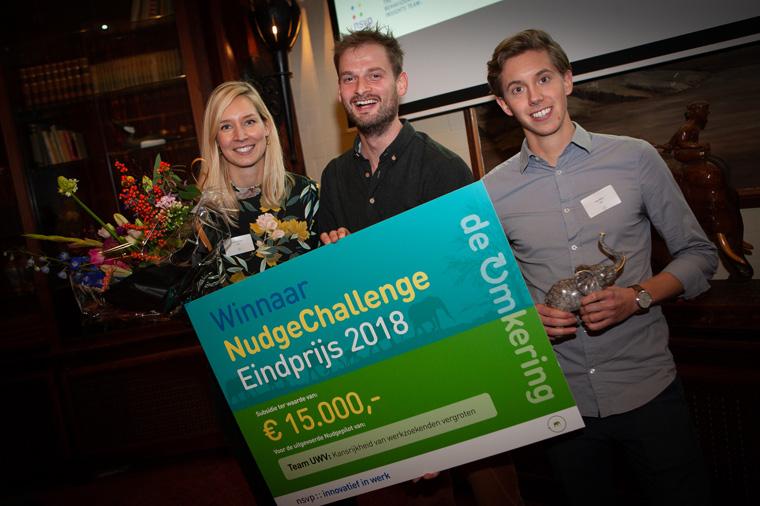 OntwikkelNudge van Team UWV winnaar NudgeEindprijs